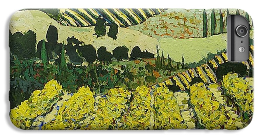 Landscape IPhone 6 Plus Case featuring the painting Sharing The Discovery by Allan P Friedlander