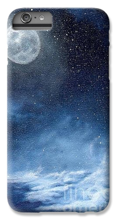 Cosmos IPhone 6 Plus Case featuring the painting Shimmer by Murphy Elliott