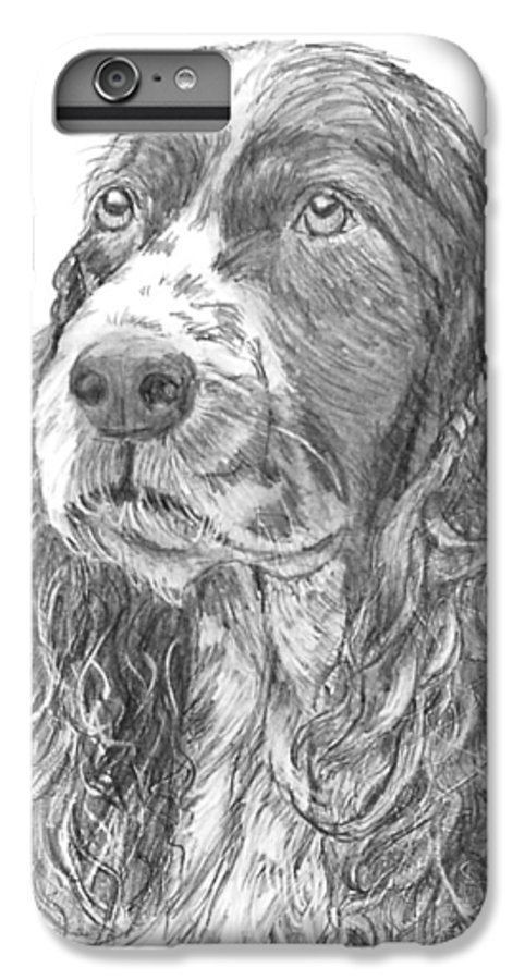 Dog IPhone 6 Plus Case featuring the drawing Sibley by Quwatha Valentine