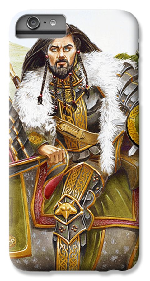 Fine Art IPhone 6 Plus Case featuring the painting Sir Marhaus by Melissa A Benson