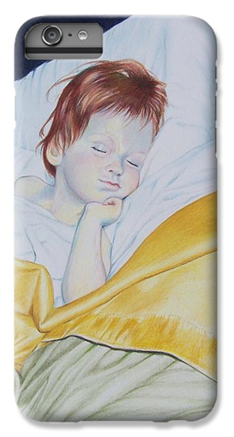 Baby IPhone 6 Plus Case featuring the mixed media Sleeping Beauty by Constance Drescher