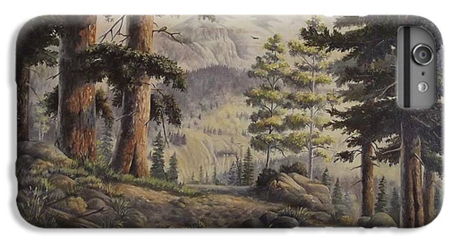 Slumgullian Mountain Colo. IPhone 6 Plus Case featuring the painting Slumgullian Pass by Wanda Dansereau
