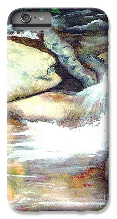 Fine Art IPhone 6 Plus Case featuring the painting Smoky Mountains Waterfall by Patricia Griffin Brett