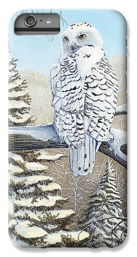 Rick Huotari IPhone 6 Plus Case featuring the painting Snowy Owl by Rick Huotari