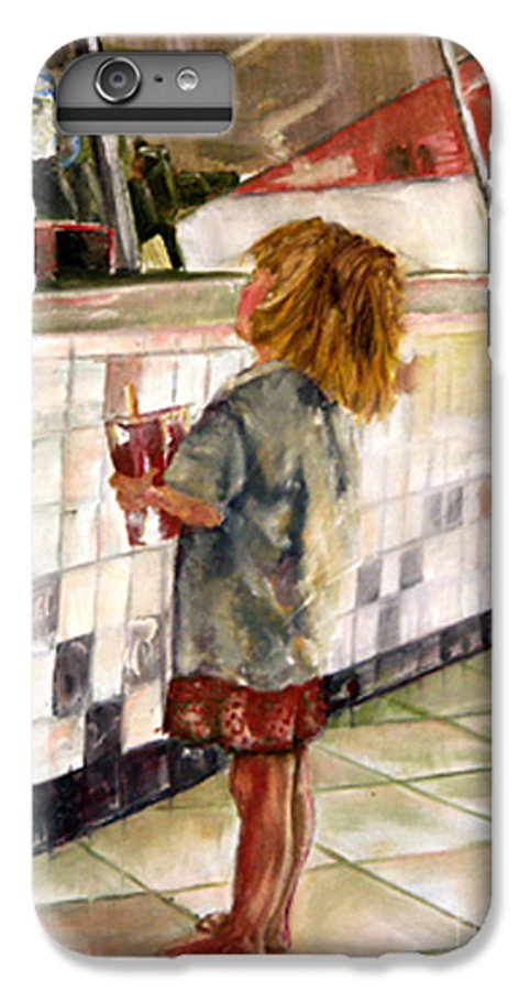 Soda IPhone 6 Plus Case featuring the painting Soda Girl by CJ Rider