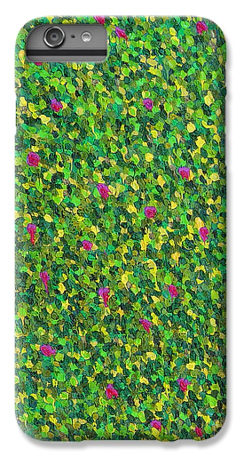 Abstract IPhone 6 Plus Case featuring the painting Soft Green With Pink by Dean Triolo
