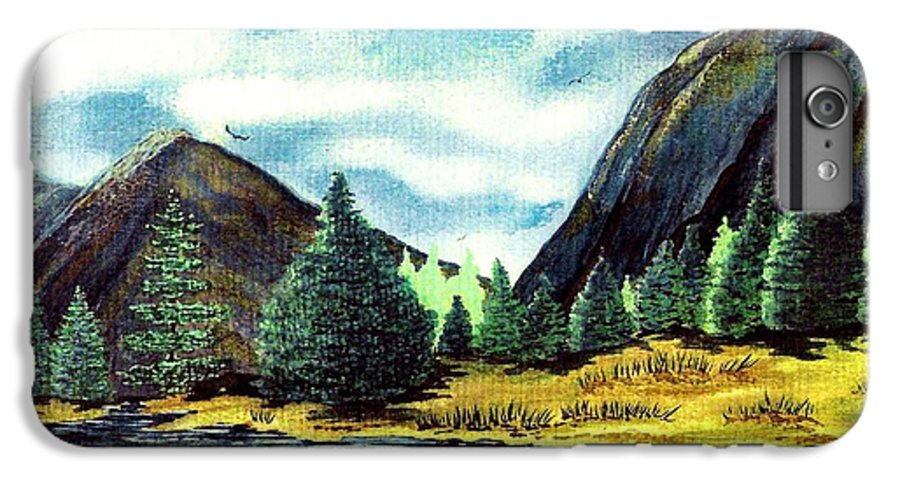 Fine Art IPhone 6 Plus Case featuring the painting Solitude by Patricia Griffin Brett