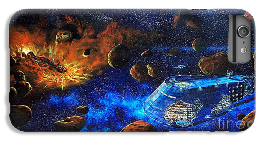 Future IPhone 6 Plus Case featuring the painting Spaceship Titanic by Murphy Elliott