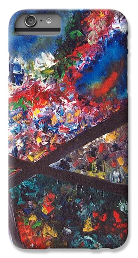 Abstract IPhone 6 Plus Case featuring the painting Spectral Chaos by Micah Guenther