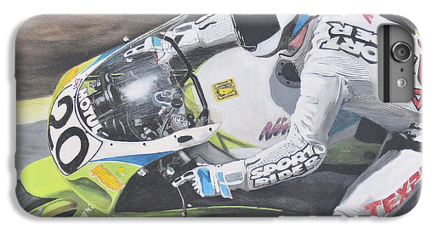 Motorcycle IPhone 6 Plus Case featuring the painting Sport Rider by Denis Gloudeman