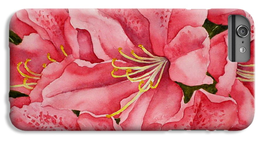 Watercolor IPhone 6 Plus Case featuring the painting Spring Azalea by Darla Brock