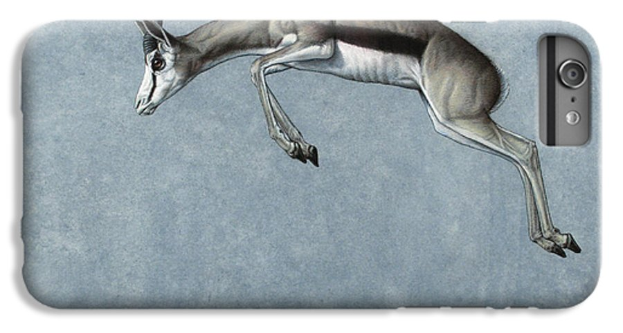 Springbok IPhone 6 Plus Case featuring the painting Springbok by James W Johnson