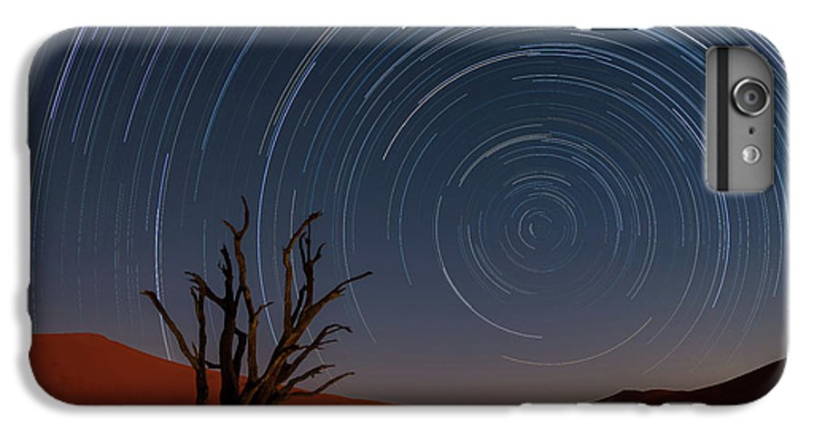 Deadvlei IPhone 6 Plus Case featuring the photograph Star Trails Of Namibia by Karen Deakin