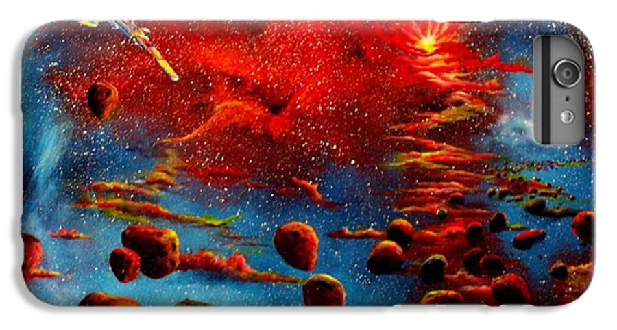 Nova IPhone 6 Plus Case featuring the painting Starberry Nova Alien Excape by Murphy Elliott