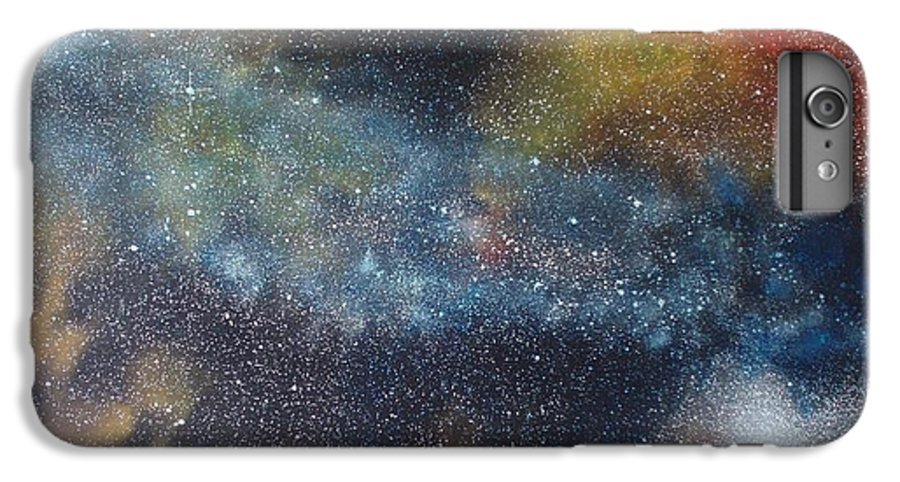 Space;stars;starry;nebula;spiral;galaxy;star Cluster;celestial;cosmos;universe;orgasm IPhone 6 Plus Case featuring the painting Stargasm by Sean Connolly