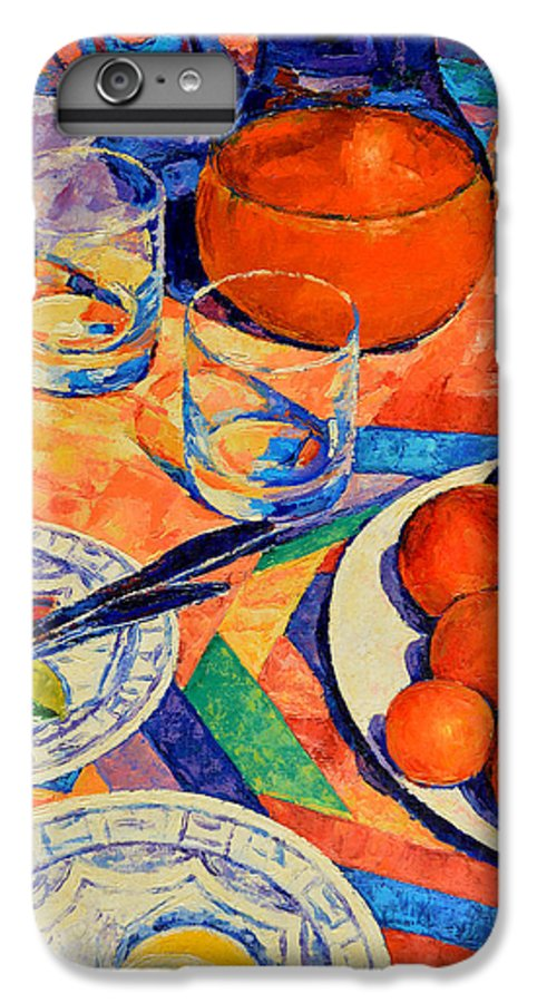 Still Life IPhone 6 Plus Case featuring the painting Still Life 1 by Iliyan Bozhanov