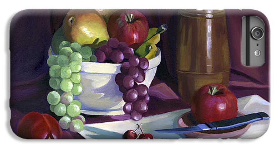 Fine Art IPhone 6 Plus Case featuring the painting Still Life With Apples by Nancy Griswold