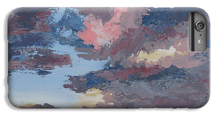 Stormy Sky IPhone 6 Plus Case featuring the painting Storm A Brewin by Janis Mock-Jones