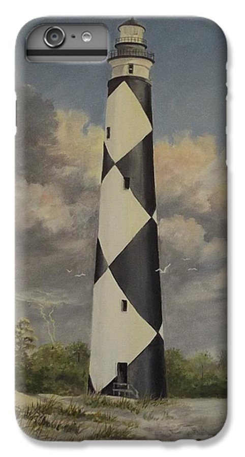 Stormy Skys IPhone 6 Plus Case featuring the painting Storm Over Cape Fear by Wanda Dansereau