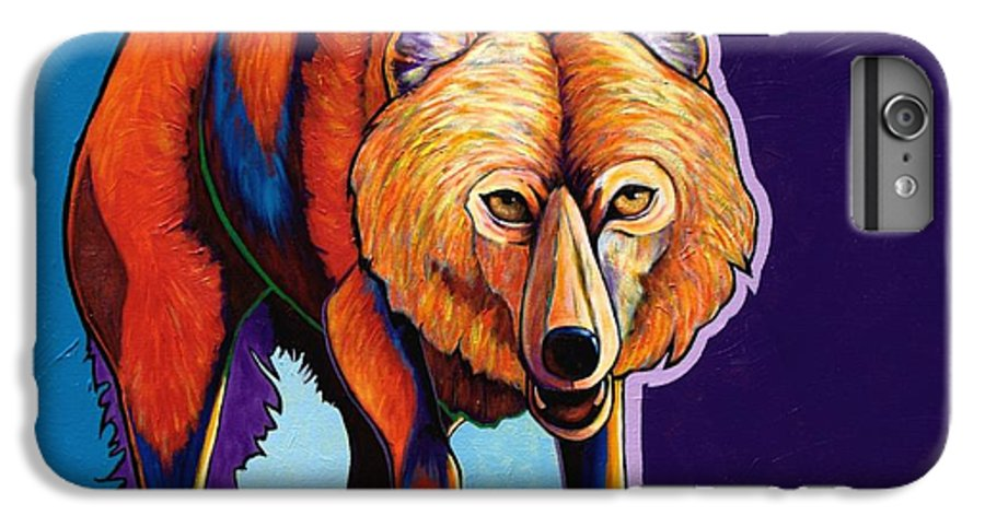 Contemporary IPhone 6 Plus Case featuring the painting Strictly Business - Arctic Wolf by Joe Triano