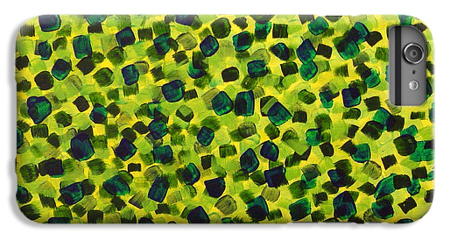 Abstract IPhone 6 Plus Case featuring the painting Sunlight Through The Trees 2 by Dean Triolo