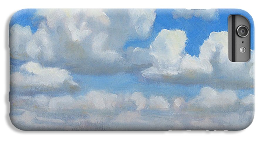 Landscape IPhone 6 Plus Case featuring the painting Summer Pasture by Bruce Morrison
