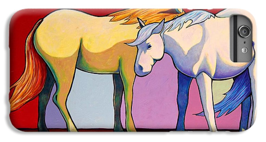 Wildlife IPhone 6 Plus Case featuring the painting Summer Winds - Mustangs by Joe Triano