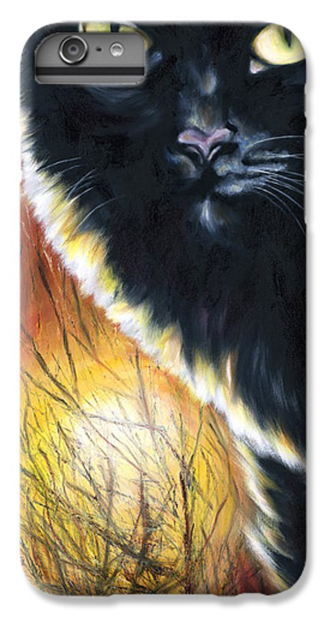 Cat IPhone 6 Plus Case featuring the painting Sunset by Hiroko Sakai