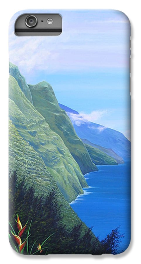 Landscape IPhone 6 Plus Case featuring the painting Sunshine In The Shade by Hunter Jay