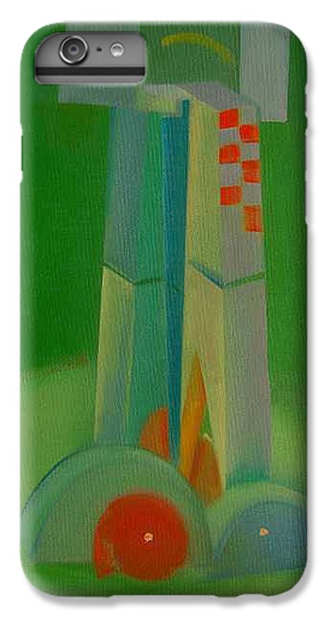 Cubist View Of Figure IPhone 6 Plus Case featuring the painting Survivors by Charles Stuart