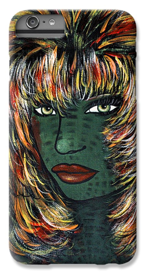 Woman IPhone 6 Plus Case featuring the painting Tattoo by Natalie Holland