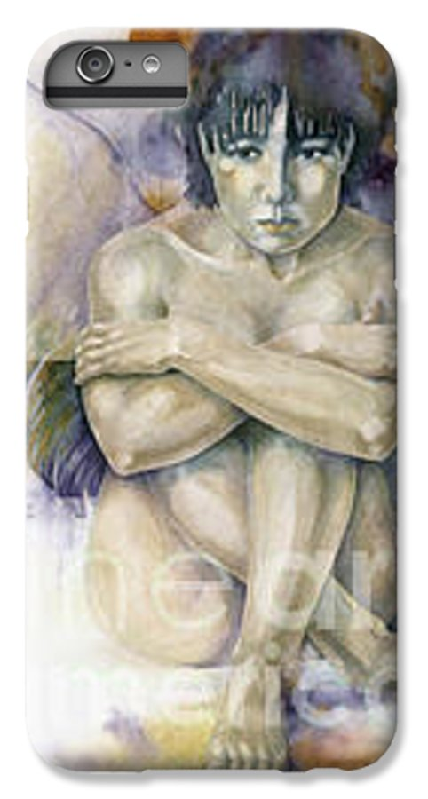 Angel IPhone 6 Plus Case featuring the painting Tessera First Awareness by Wendy Froshay