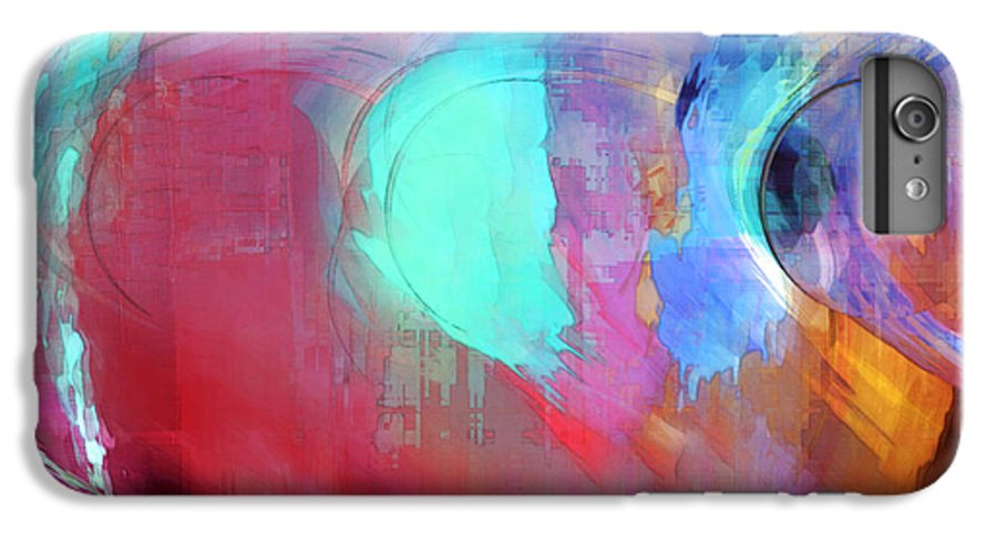 Abstract IPhone 6 Plus Case featuring the digital art The Afterglow by Linda Sannuti