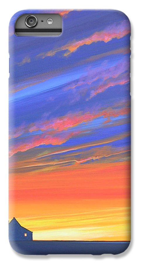 Sunset IPhone 6 Plus Case featuring the painting The Aunt's House by Hunter Jay