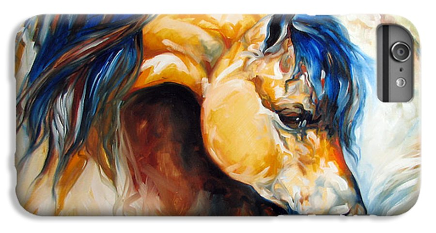 Horse IPhone 6 Plus Case featuring the painting The Buckskin by Marcia Baldwin