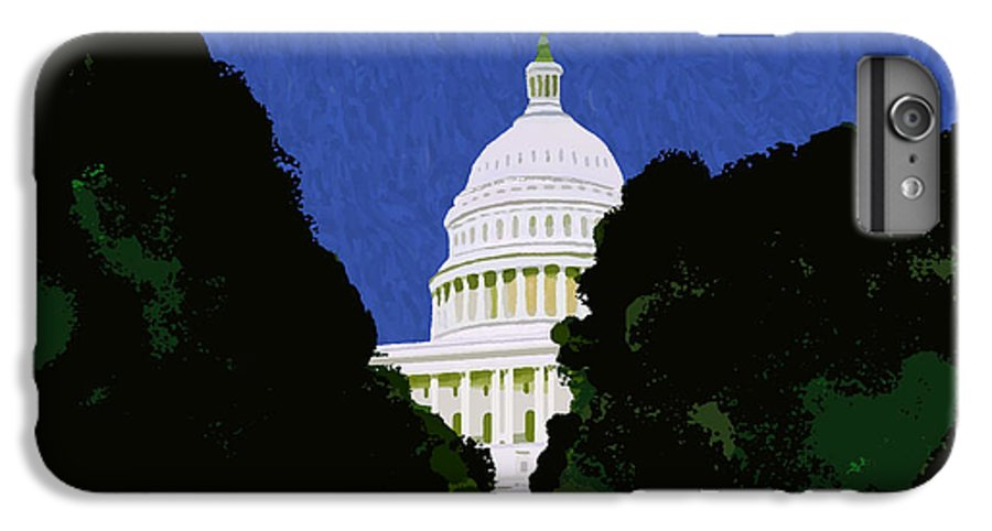 Capitol IPhone 6 Plus Case featuring the painting The Capitol by Pharris Art