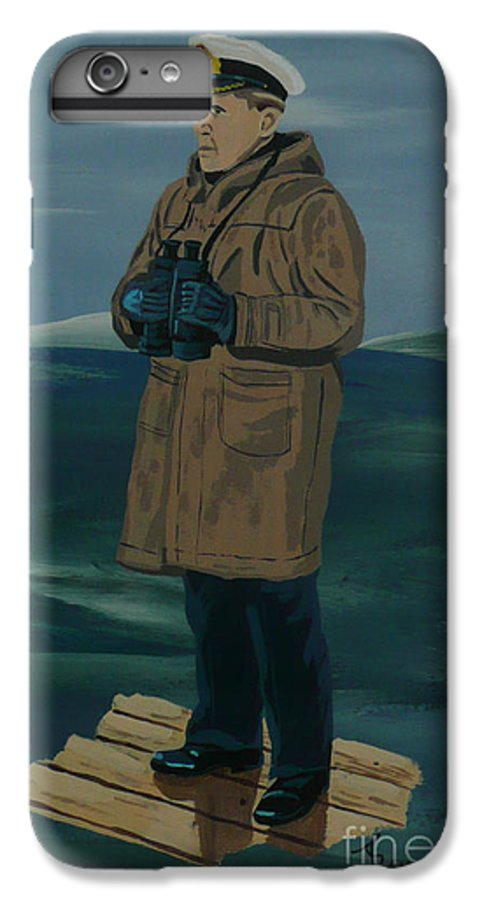 Captain IPhone 6 Plus Case featuring the painting The Captain by Anthony Dunphy