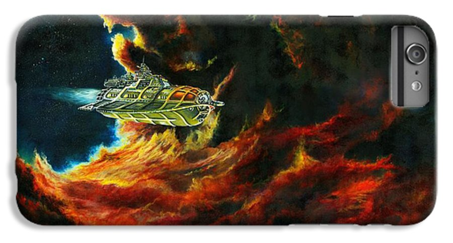 Devil IPhone 6 Plus Case featuring the painting The Devil's Lair by Murphy Elliott