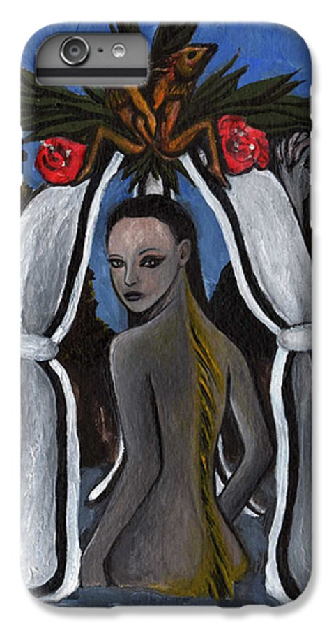 Mermaid IPhone 6 Plus Case featuring the painting The Fable Of The Fish by Ayka Yasis