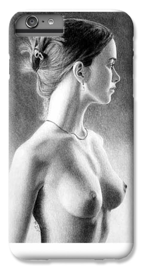 Pastel IPhone 6 Plus Case featuring the painting The Girl With The Glass Earring by Joseph Ogle