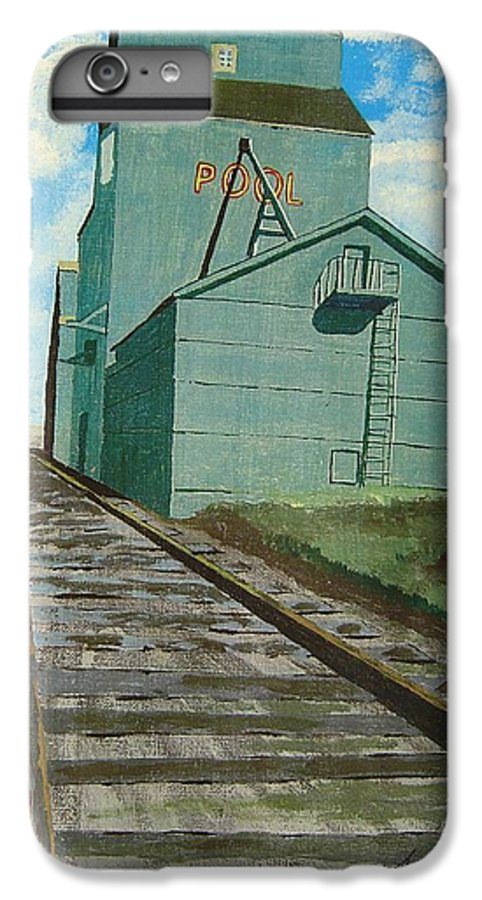 Elevator IPhone 6 Plus Case featuring the painting The Grain Elevator by Anthony Dunphy