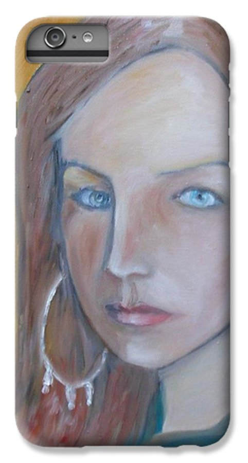 Portraiture IPhone 6 Plus Case featuring the painting The H. Study by Jasko Caus