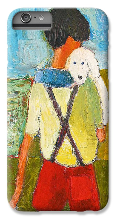 Abstract IPhone 6 Plus Case featuring the painting The Little Puppy by Habib Ayat