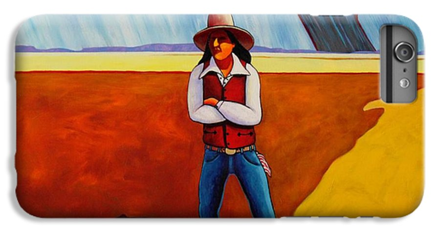 Native American IPhone 6 Plus Case featuring the painting The Logic Of Solitude by Joe Triano