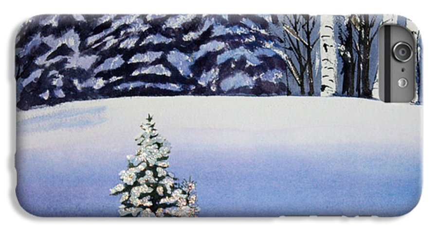 Christmas IPhone 6 Plus Case featuring the painting The Lone Christmas Tree by Patricia Novack