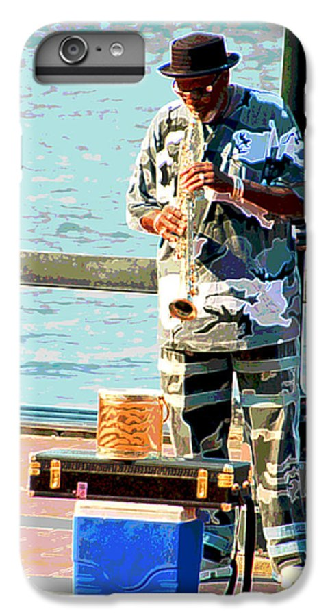 Soprano Saxophone IPhone 6 Plus Case featuring the photograph The Music Man by Suzanne Gaff