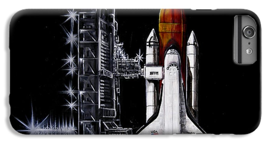 Shuttle IPhone 6 Plus Case featuring the painting The Night Before by Murphy Elliott