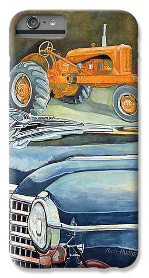 Rick Huotari IPhone 6 Plus Case featuring the painting The Old Farm by Rick Huotari