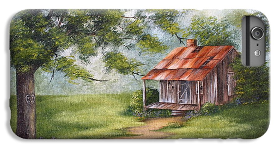 Oil IPhone 6 Plus Case featuring the painting The Old Homestead by Ruth Bares
