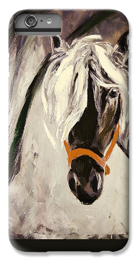Horses IPhone 6 Plus Case featuring the painting The Performer by Gina De Gorna